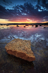 Northern Nugget (Xenedis) Tags: boulder clouds dusk ocean reef rocks seascape sunset water longreef newsouthwales nsw australia