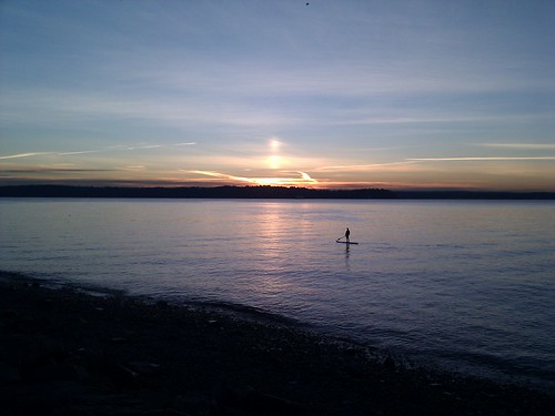 Sun sets on 2010, in Lincoln Park, on Puget Sound, in Seattle. Happy New Year
