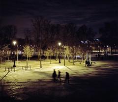 Paris by night #1 (philoufr) Tags: paris night nuit jardindestuileries yashicamat124g epsonperfectionv500photo kodakportra8001600
