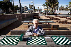 ChessMan (DanOrange) Tags: ca sunset portrait beach cheese movie pier play santamonica nazi chess oldman behindthescenes oldmen woodenhorse moviestill unitstill adanan studentfilmsantamoncia