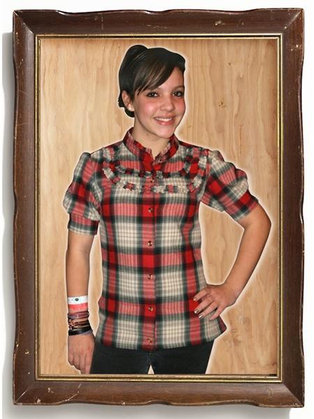 DIY Girl plaid lumberjack grunge flanner shirt refashion