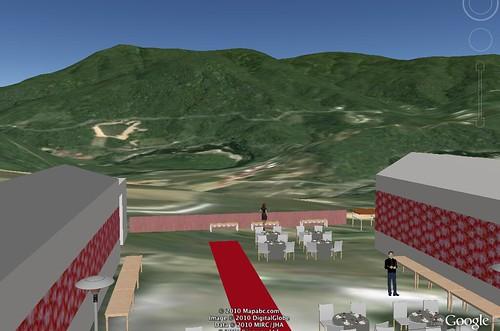 匯入google earth的模擬實境圖