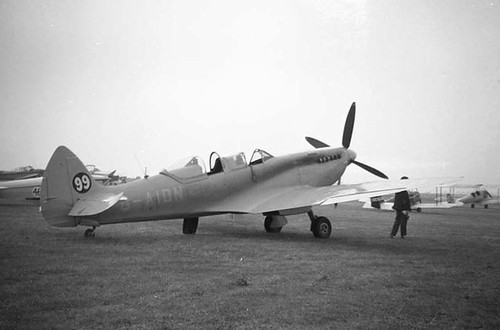 web10 Spitfire VIII G-AIDN Rhoose Welsh Rally 1960