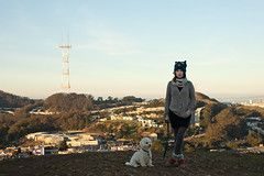 (bex finch) Tags: sanfrancisco dog selfportrait henry bex pooch mtdavidson sutrotower 52weeks bexfinch noididnthavetopee yesmyhatisfckingawesome