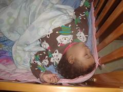 a sleeping tot