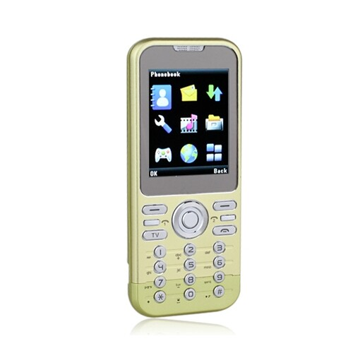 METOM T900 Dual Card Quad Band With FM Cell Phone Green