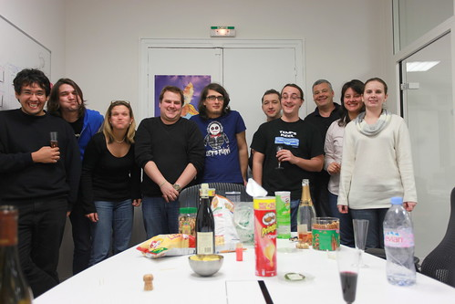 Celebrating the recent figures by StatCounter at the Mozilla Paris office