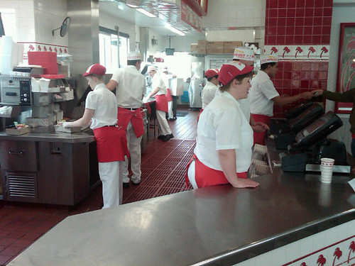 In out burger employees