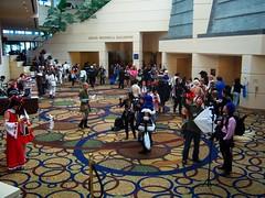 Cosplayers outside the Ballroom