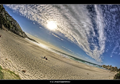 The place to be.... (iPh4n70M) Tags: africa blue sea sky sun mer beach clouds photography bay soleil photo sand nikon photographer photographie surfer south sable wave du fisheye photograph tc nikkor nuages camps 16mm vague plage llandudno hdr hout sud afrique photographe surfeur 9xp d700 9raw tcphotography ph4n70m iph4n70m tcphotographie