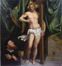 Domenico Tintoretto, Incontro sulla via di Emmaus, ultimo decennio del XVI