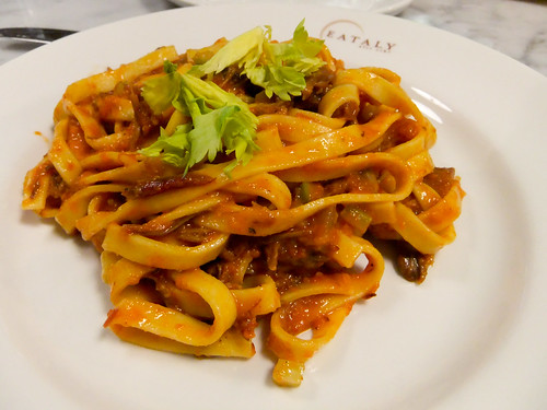 Fettucine with Oxtail Ragu, Eataly