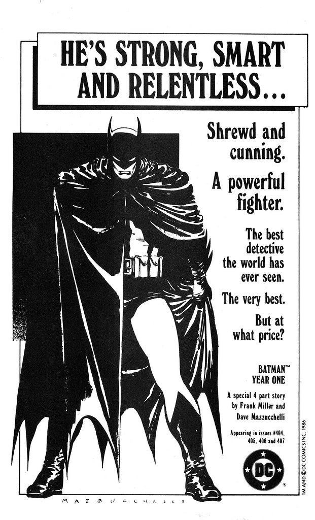 Batman Year One ad from Amazing Heroes 1986