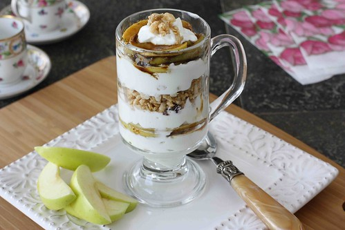 Caramelized Apple, Yogurt & Granola Parfait Recipe LS