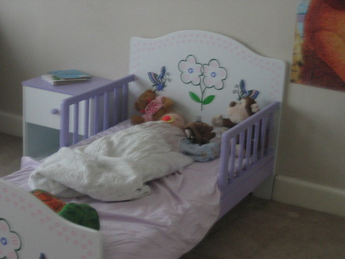 Abi's toddler bed.