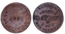 1864 Hong Kong trial piece Watt and Co