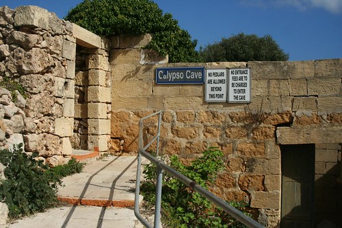 Photo of the entrance Calypso Cave in Gozo Island, Malta