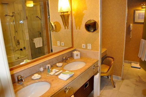 Detalle del baño de la Premier Corner Room