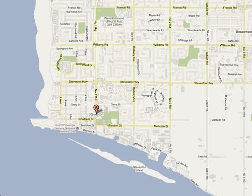 Map of Steveston