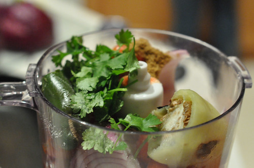 Add Cilantro and cumin to chile ingredients