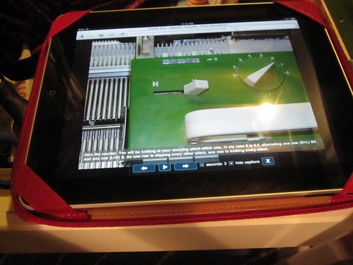 Stephanie Coulshaw Sock Tutorial for Passap Knitting Machines On Apple iPad.