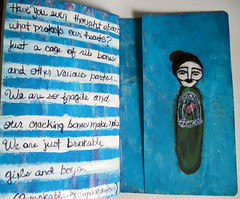 The Sketchbook Project: last two pages of my book