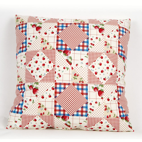 Cushion Cover Patchwork Berries by Kokka