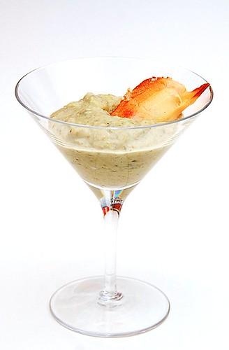 crema di carciofo e vaniglia con astice