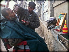 Street Haircut (peretzp) Tags: street haircut afghanistan hair cut scissors razor jalalabad nangahar jalalagood
