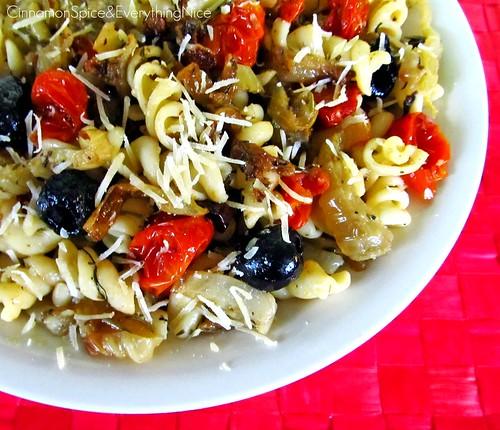 Roasted Fennel, Zucchini and Tomato Pasta