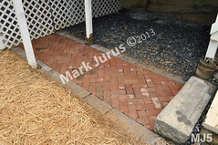 WM Mark Jurus 5, flat work, walk way, brick, dry laid stone construction, copyright 2014