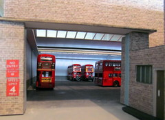 Brixton garage diorama (kingsway john) Tags: brixton bus garage london transport model diorama 176 scale bn kingsway models londontransportmodel oo gauge miniature