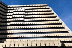 Oberpostdirektion - City Nord Hamburg (Rasande Tyskar) Tags: hamburg germany oberpostdirektion post city nord citynord abriss gebude 70er 70s architecture building concrete beton stadt planung planning architektur sky himmel winkel angles angle linien lines