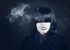 Venom {31/52 Smoke} (DyeDye) Tags: 31x52 selfportrait 52weekchallenge smoke wig vape black venom poison toxic tainted 3152