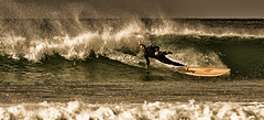 Man And Board Part Company (Nigel Jones LRPS) Tags: surf surfer board falling wave colorefex