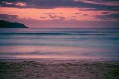 Sunrise at the beach (Merrillie) Tags: daybreak uminabeach landscape nature australia nswcentralcoast newsouthwales sea nsw longexposure beach ocean centralcoastnsw umina pink photography waves outdoors seascape waterscape centralcoast water sunrise