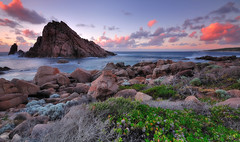 Sugarloaf Rock, Dunsborough (Nora Carol) Tags: sunset seascape australia dunsborough southperth rockformation sigma1020mm searock westernaustralian sugarloafrock nikond90 leeuwinnaturalistenationalpark natureimage noracarol beautifulpanorama cokinggndfilters jealousah