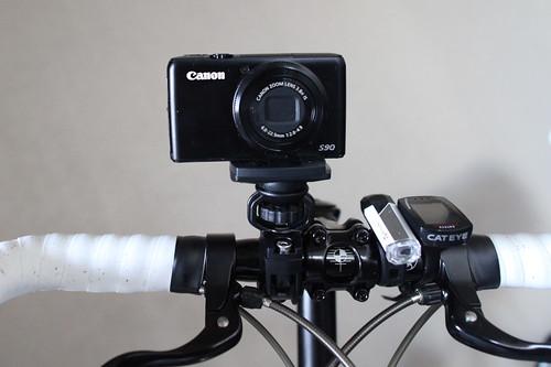 自転車車載カメラでビデオ撮影