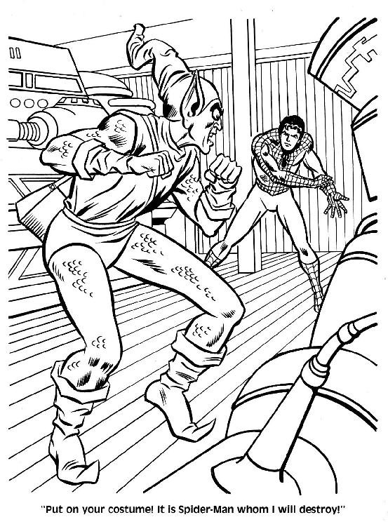 Spider-Man Unmasked! Coloring Book041