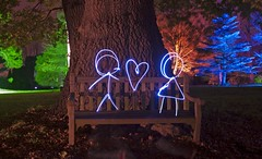 The Lovers II (sjnewton) Tags: uk november light england lightpainting colour london love woodland nikon heart lovers stickmen brentford 2010 syon londonist syonhouse lightabstract tamronaf28300mmf3563xrdi enchantedwoodland d700 upcoming:event=7230558 theloversii explored83