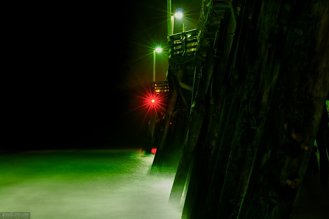 Night Pier, with Surf