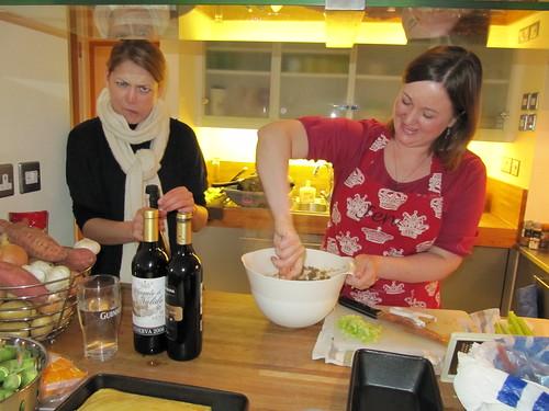 elsa opens wine