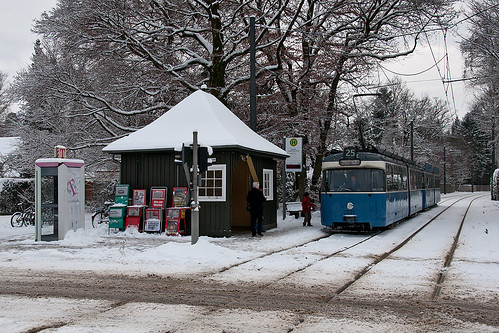 Winterliche Stimmung an der Ludwig-Thoma-Straße