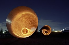 Hells Portal (Burnt Umber) Tags: light urban lightpainting building art abandoned metal night concrete florida fireworks miami steel tube pipe illumination orb explore fluorescent pentaxk1000 sparks culvert ue drainage urbex galvanized steelwool allrightsreserved tamronsp90 kodak400gold flurbex lightartperformancephotography tamronadaptall2sp2880mmf3542 rpilla001