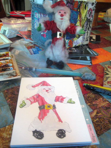 christmas card ~ in progress
