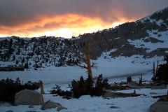 Sunset over Chicken Spring Lake