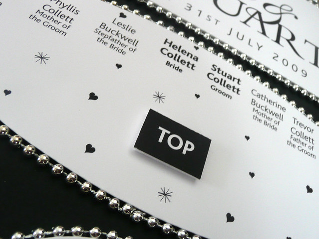 Beaded Wedding Table Plan - Black and White detail2 by Wedding Table Plans