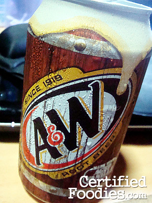 MY Ice-cold A&W Root Beer in can - CertifiedFoodies.com