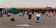 Morning activity in Jemaa El Fna (Clive1945) Tags: africa morocco maroc marrakesh afrique jemaaelfna d5000