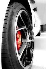 Brake (Matsod) Tags: white cars sports car wheel sport race wheels continental tire renault tires brakes brake races rim rims rs megane brembo contisport